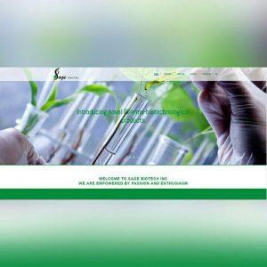 طراحی وب سایت موسسه تحقیقات سیج بیوتکنیک