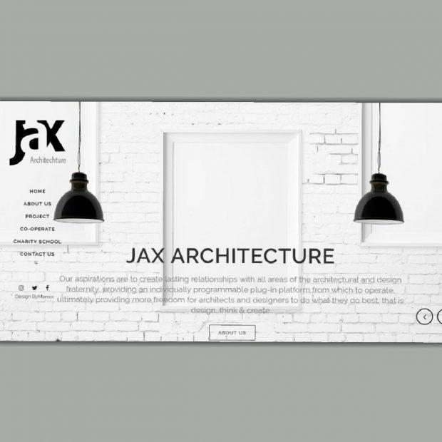 طراحی وب سایت معماری ژاکس