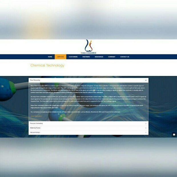 طراحی سایت شرکتی کیمیا کامرس