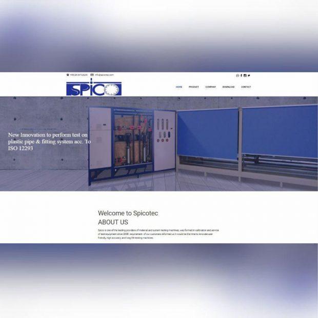 طراحی سایت شرکتی تجهیزات پلاستیک ایرسا