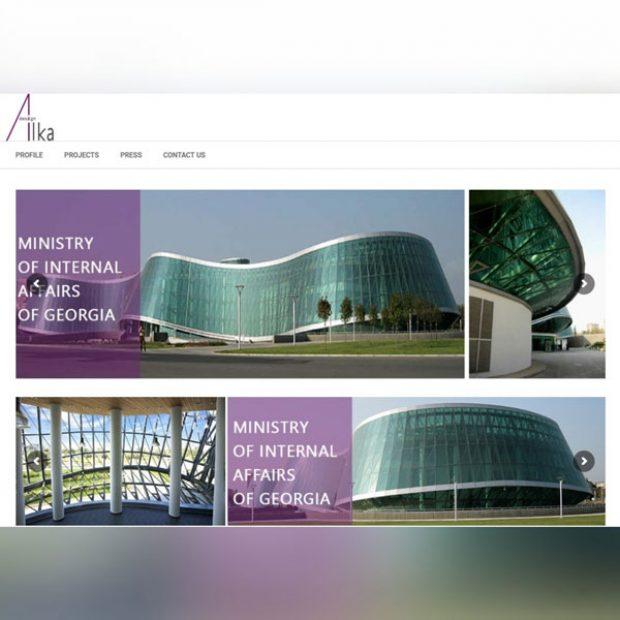 طراحی سایت انگلیسی آلکادیزاین