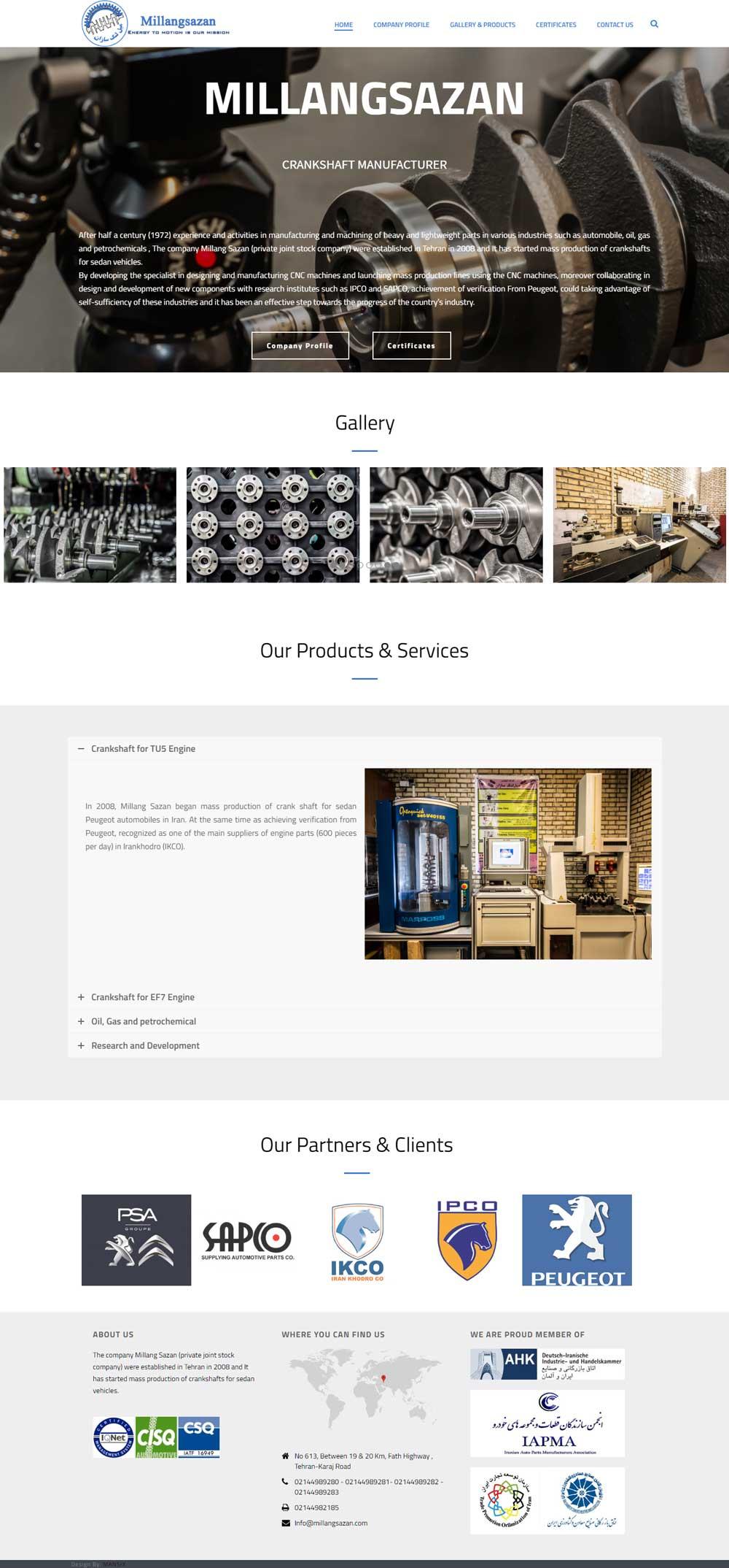 طراحی سایت انگلیسی