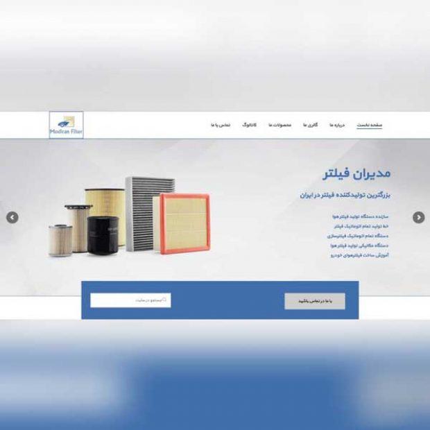 طراحی وب سایت شرکتی مدیران فیلتر