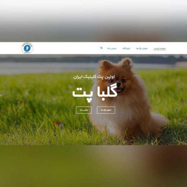 طراحی وب سایت گلبا پت