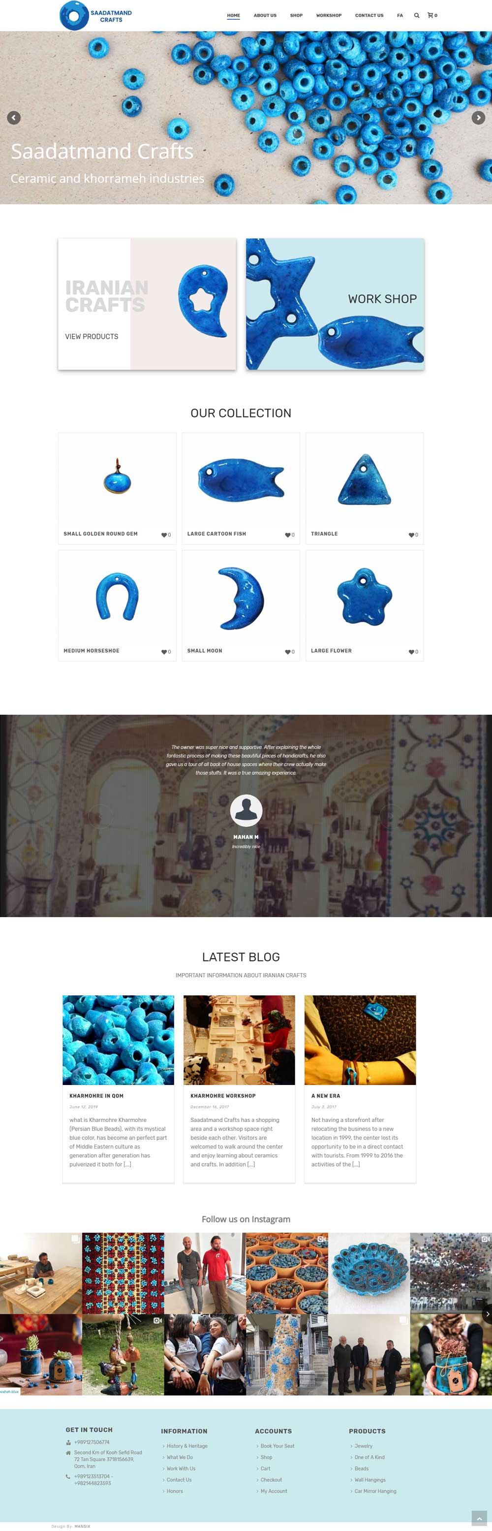 طراحی سایت صنایع دستی