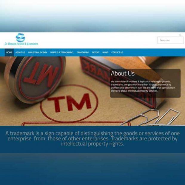 طراحی وب سایت شخصی دکتر مسعود حسینی