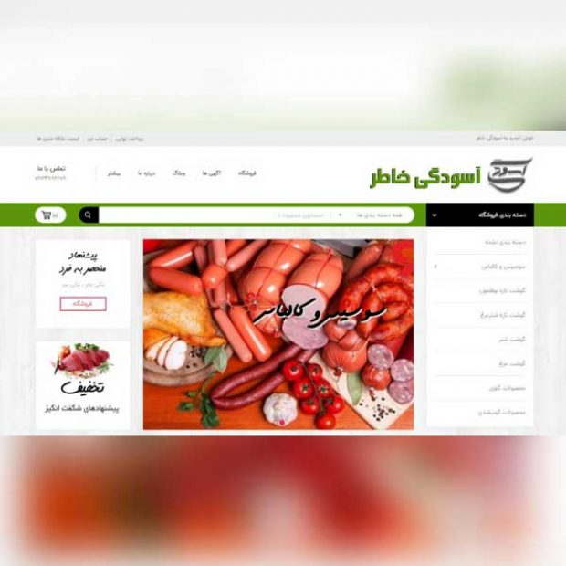 طراحی سایت محصولات پروتئینی آسودگی خاطر