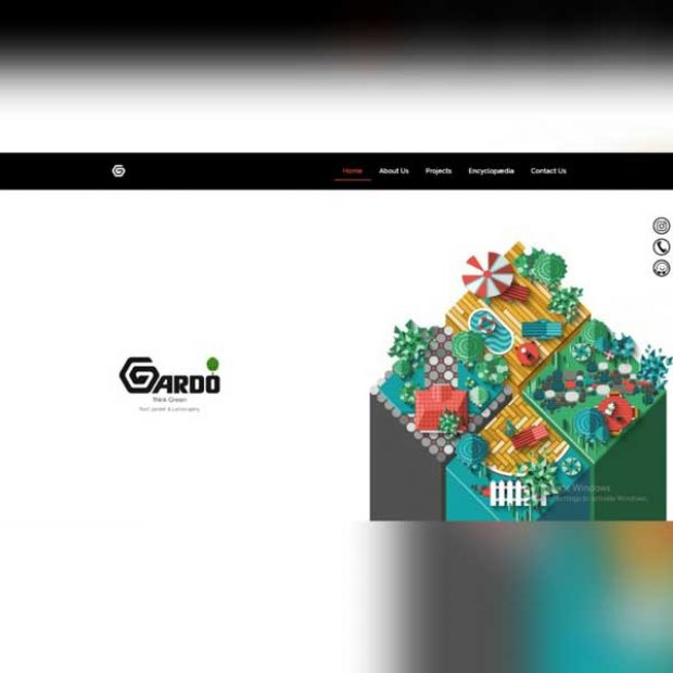 طراحی سایت شرکت پیمانکاری گاردو گروپ