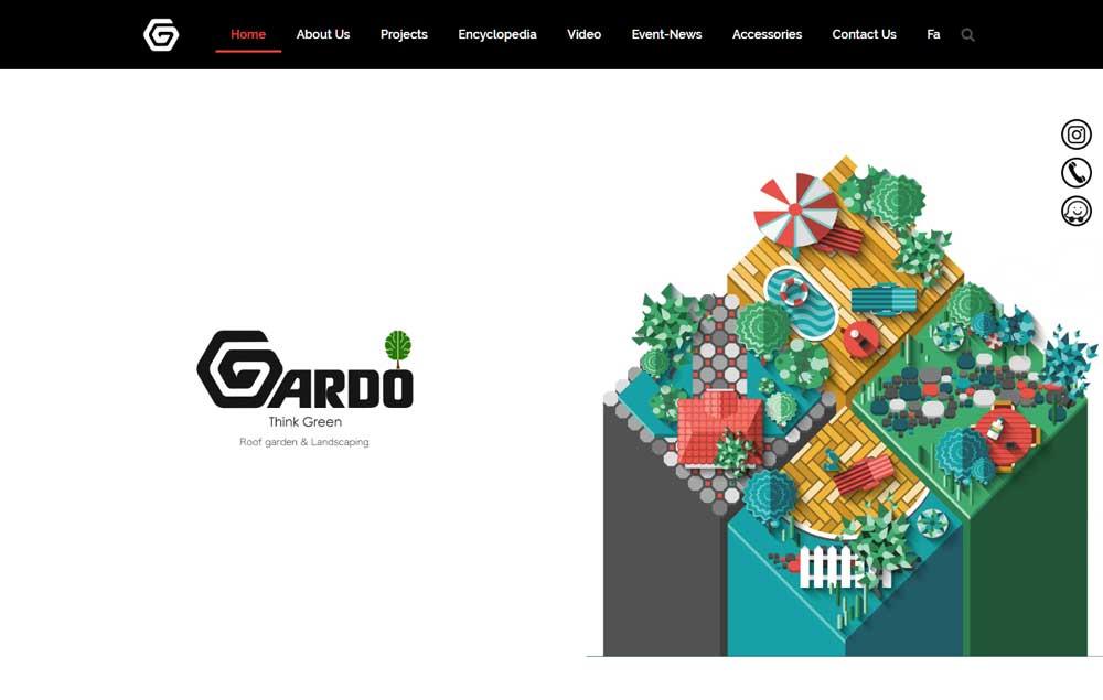 طراحی سایت روف گاردن