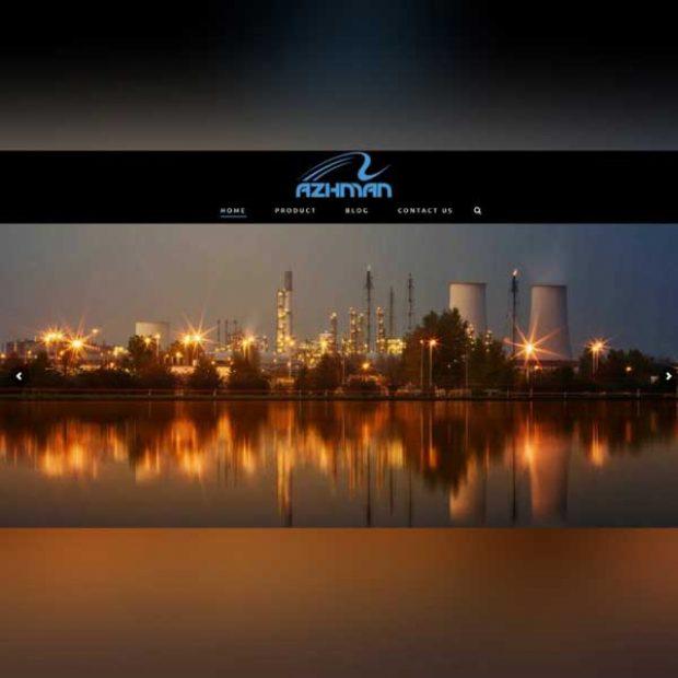 طراحی سایت بازرگانی آژمان مهر