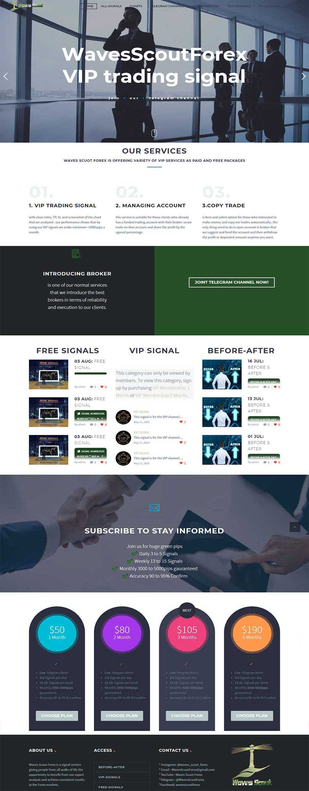 طراحی سایت بورس