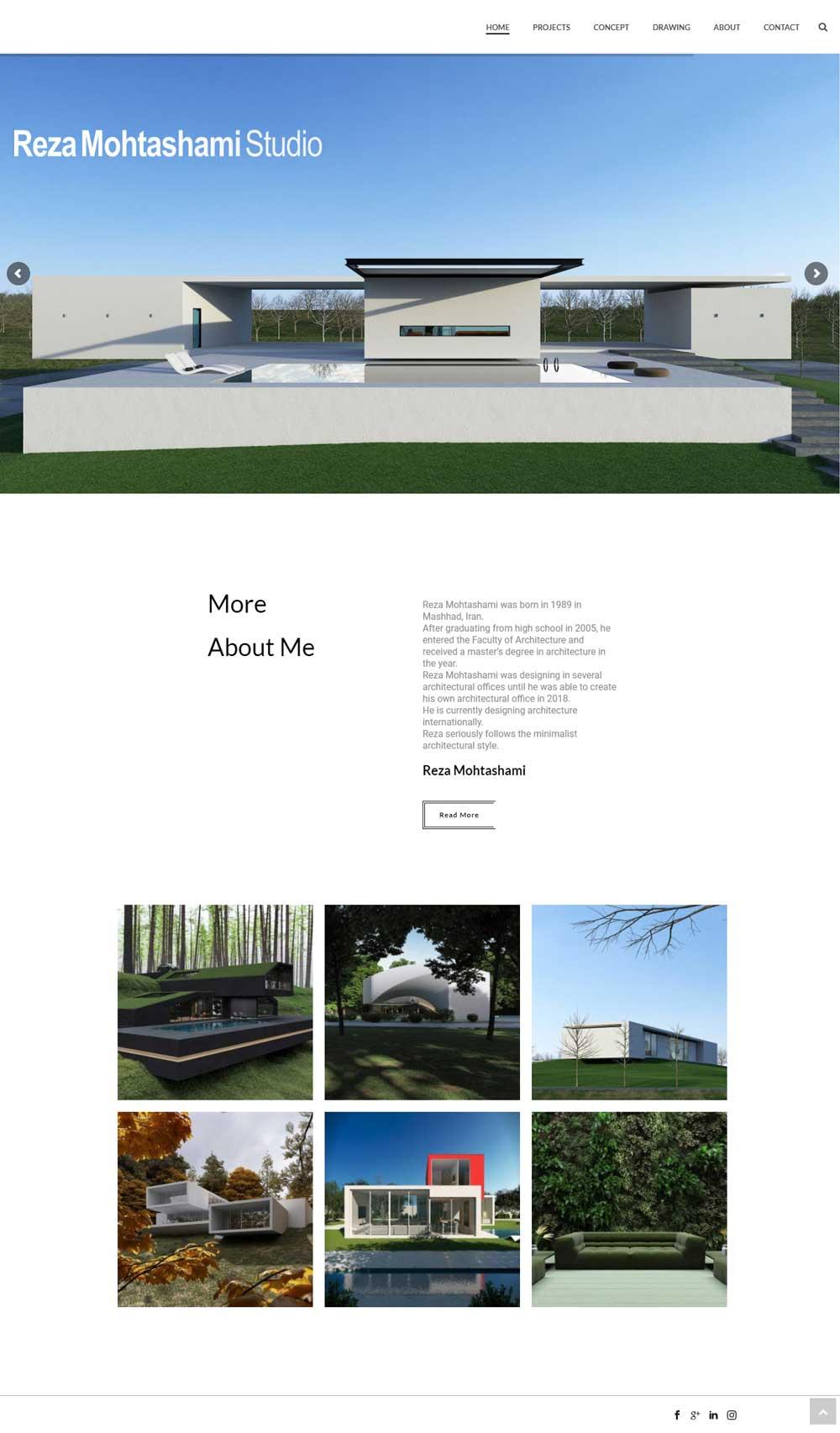 طراحی وب سایت شخصی