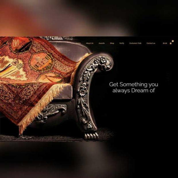 طراحی سایت فروشگاهی فرش محمد جمشیدی