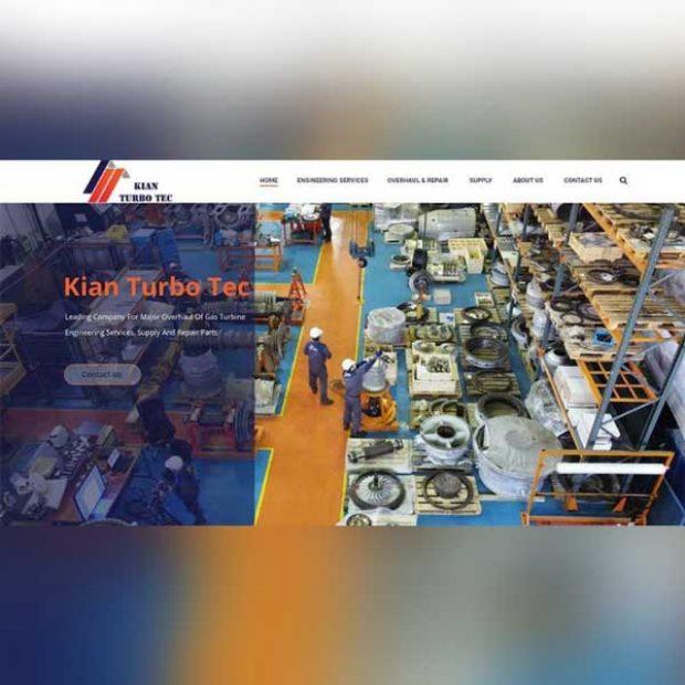 طراحی سایت صنعتی کیان توربوتک