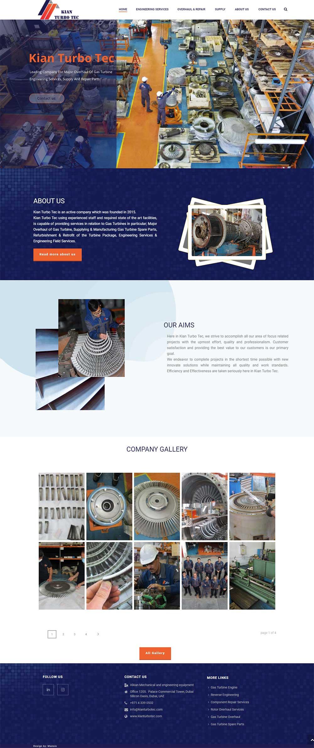 طراحی سایت صنعتی در دبی