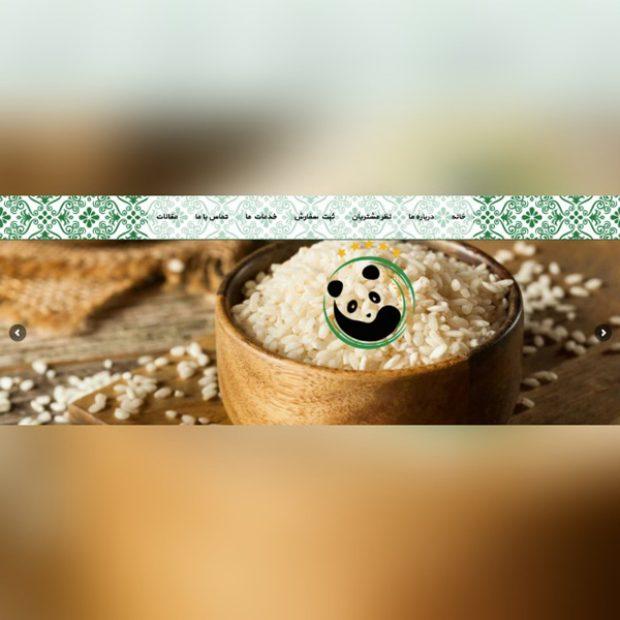 طراحی سایت برنج پاندا