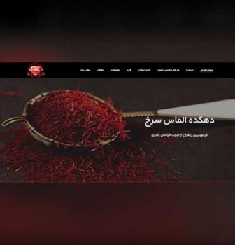 طراحی سایت شرکتی دهکده الماس سرخ