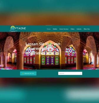 طراحی سایت شرکتی PTAONE