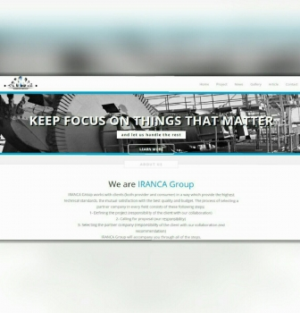 طراحی وب سایت تجهیزات معدنی ایرانکا گروپ