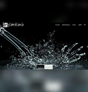 طراحی وب سایت شرکتی مرکز سنجش تراکم استخوان